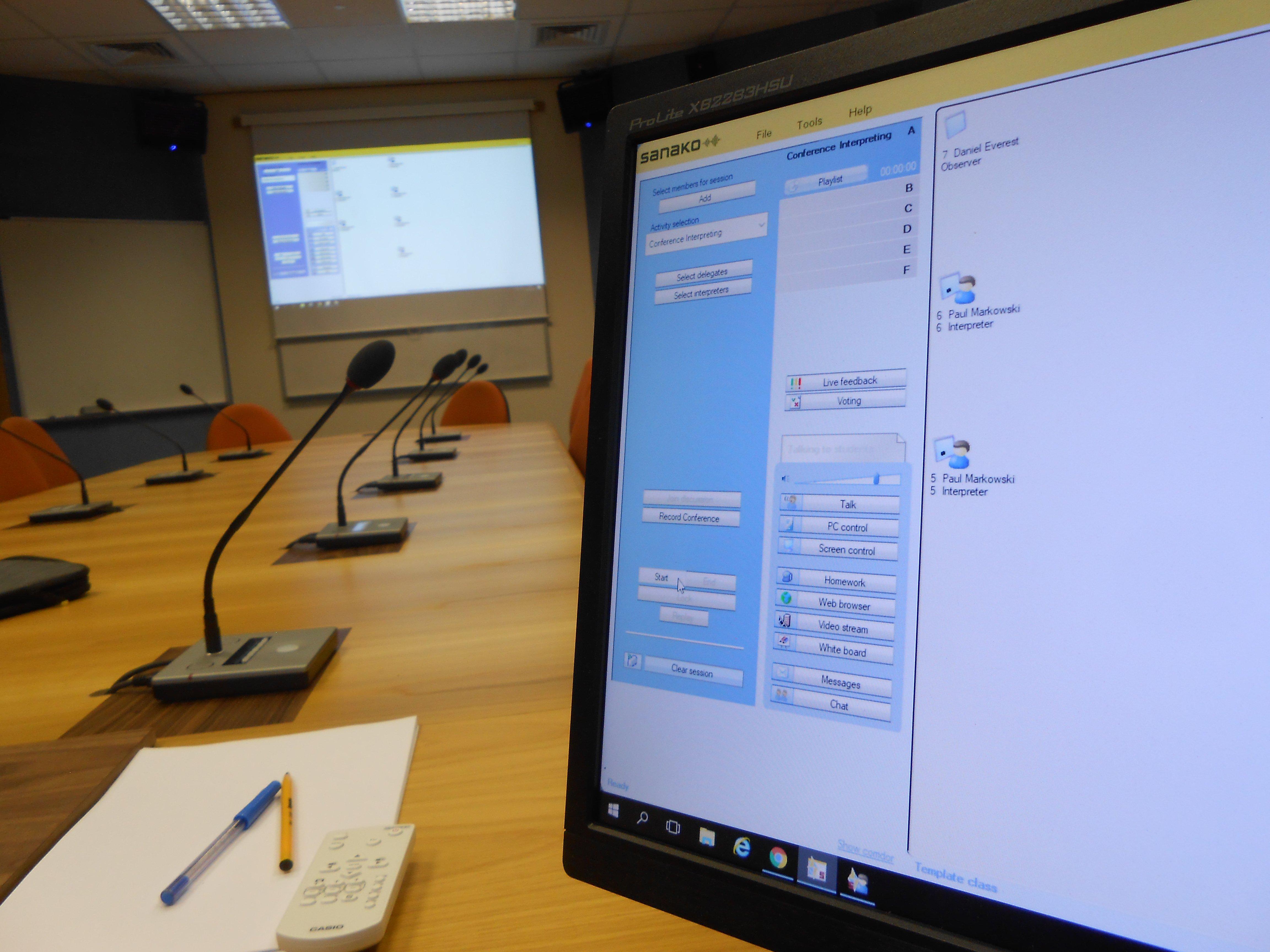 Sanako Study 1200 system for interpretation studies