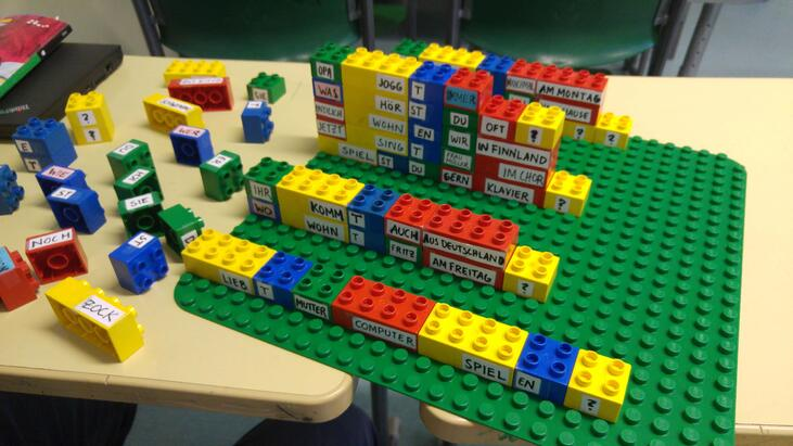 German language teaching exercise with lego blocks-2-min