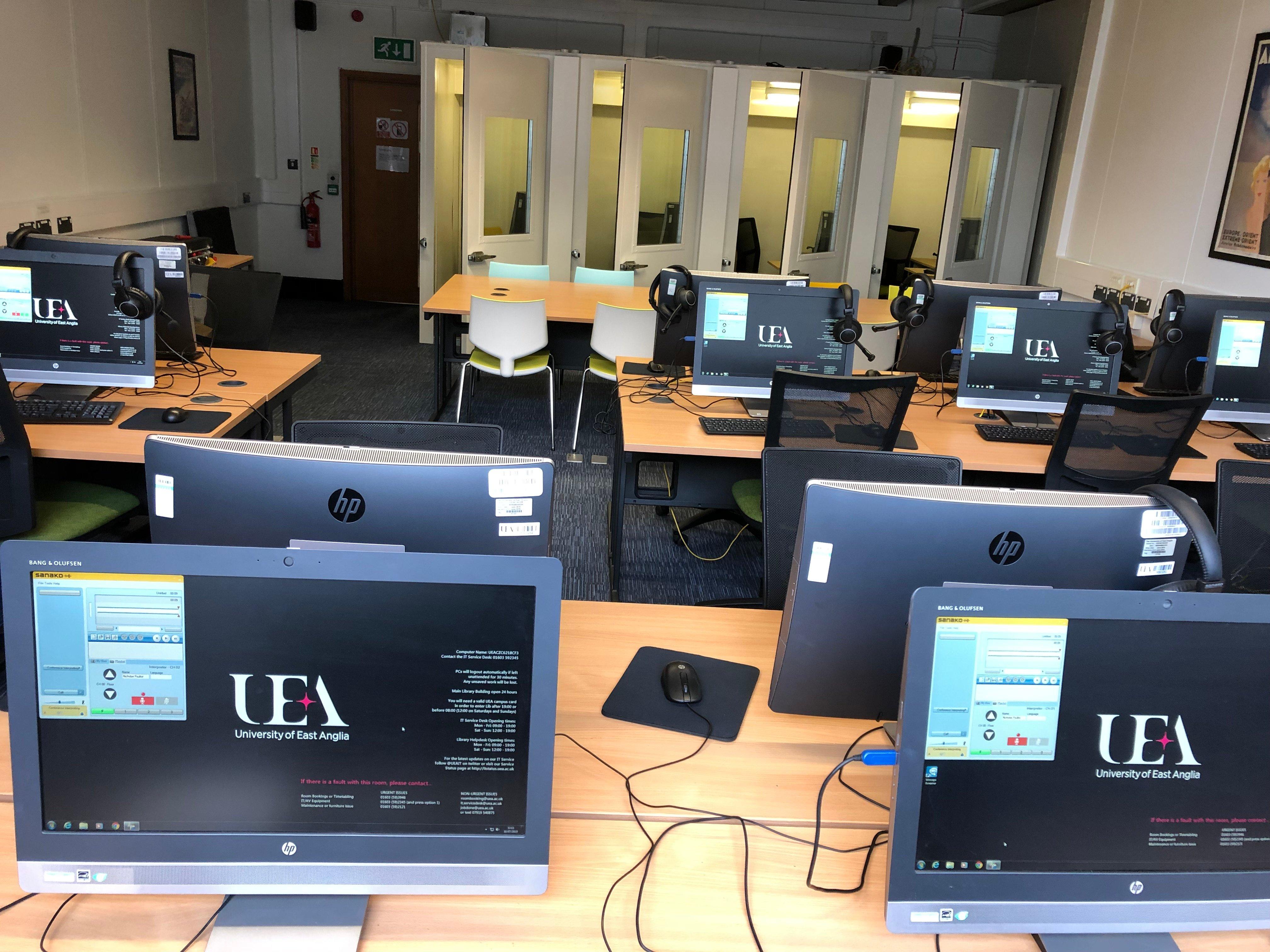 Language lab for interpreting and translation studies