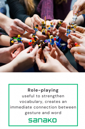Image of role playing activity in language teaching