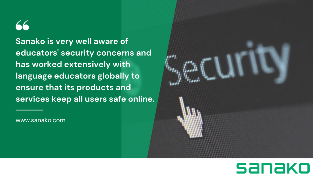 Illustration with a quote related to the security of online classrooms