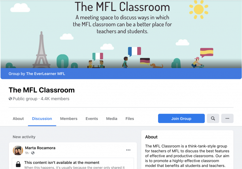 Image of MFL classroom cover image