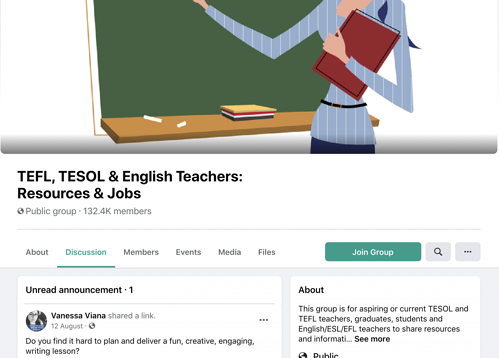 TELF and TESOL group in FB