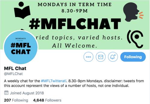MFL chat Twitter profile