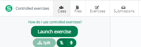 Screenshot from Sanako Connect - how to start the controlled exercise