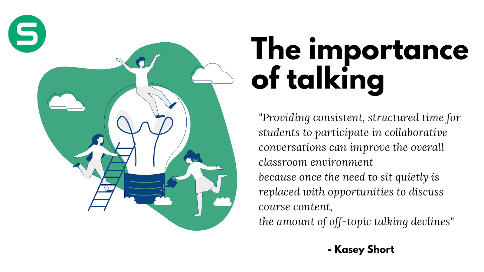 The importance of talking