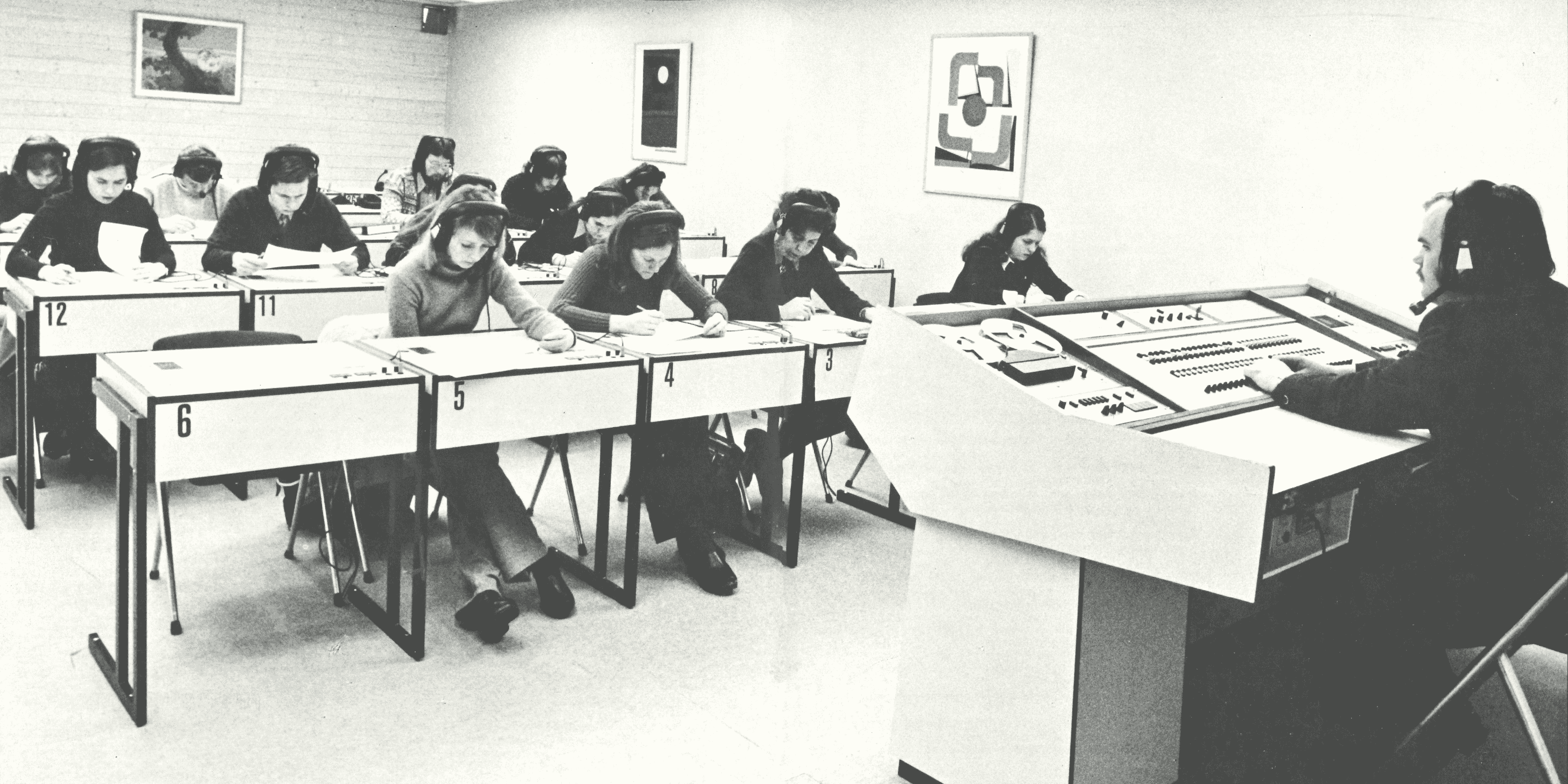 a language lab in the old days